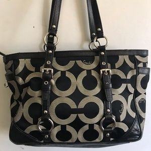COACH Medium Interwoven Jacquard Bag - Black